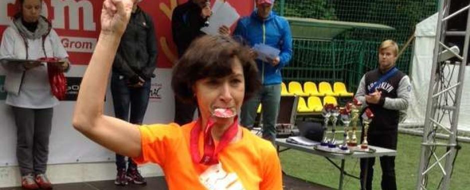 Елена Рябова с медалью